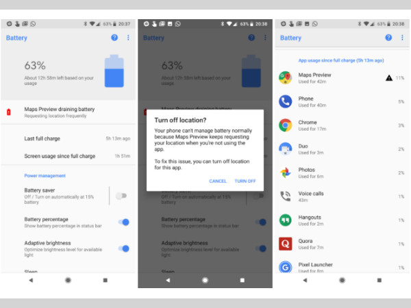 Android 8.1 to come with a new feature that stops battery drainage