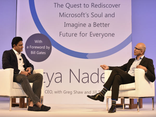 Satya Nadella and Anil Kumble talk about their 'Hit Refresh' moments