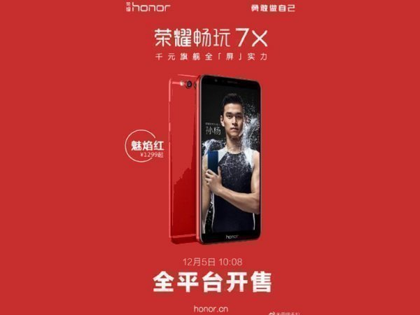 Honor 7X Flame Red color unveiled: Sales starts on December 5