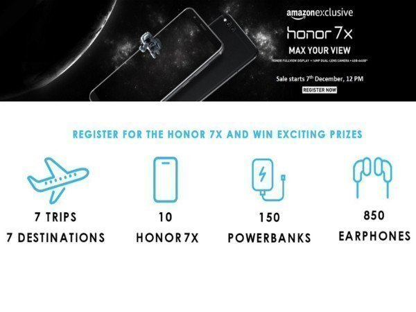 Honor 7X to be Amazon exclusive: Sale starts from December 7