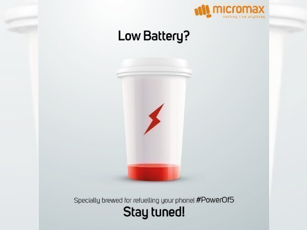 Micromax Bharat 5 will have long-lasting battery, hints teaser