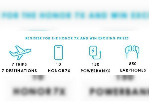 Register for Honor 7X on Amazon and win exciting prizes