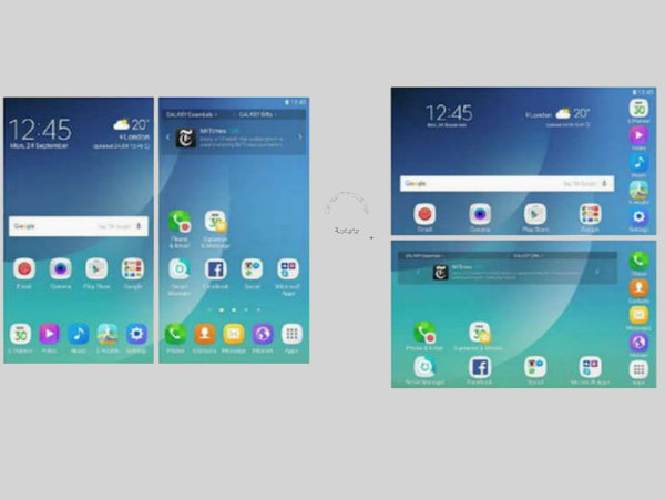 Samsung Galaxy X user interface revealed in a new patent leak