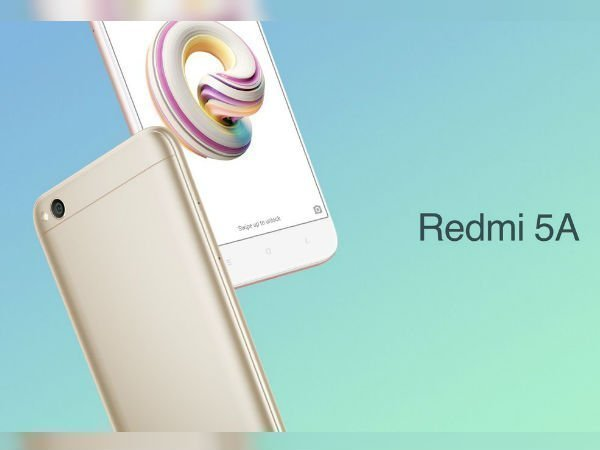 Xiaomi Redmi 5A launched in India with 13MP camera, 3,000mAh battery