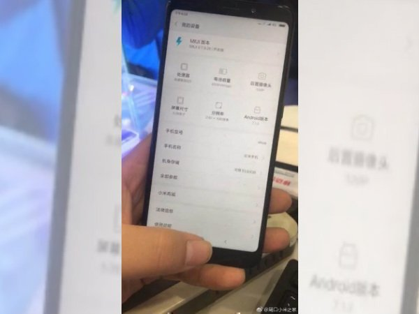 Xiaomi Redmi Note 5 live image leaks revealing key specifications