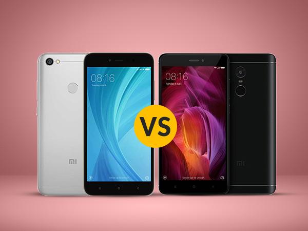 Xiaomi Redmi Y1 vs Xiaomi Redmi Note 4: Which one is your choice