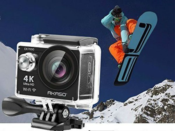 AKASO EK7000 4K sports action camera costs Rs. 7,999