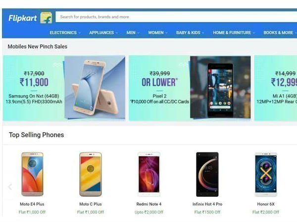 Flipkart New Pinch Days sale; attractive discounts on smartphones