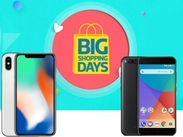 Flipkart Big Shopping Days Sale: Offers on iPhone X, Pixel 2, Mi A1