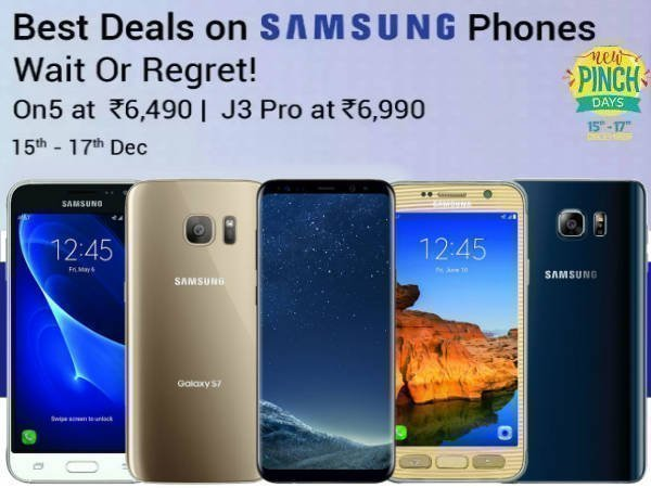 Flipkart Pinch Day Offers: Best Deals on Samsung Smartphones (15th to 17th)