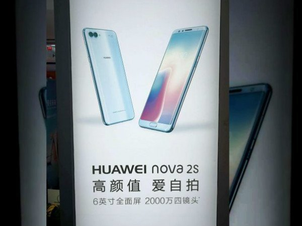 Huawei Nova 2s live pictures and poster leaked again: Looks stylish
