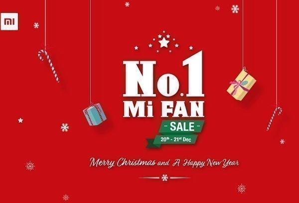 Xiaomi s no 1 mi fan sale from 20th dec to 21st dec for Christmas decs sale
