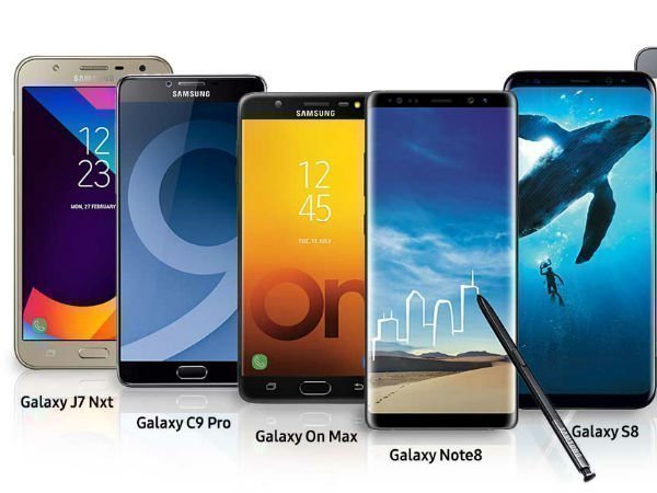 Samsung smartphones that were launched in 2017