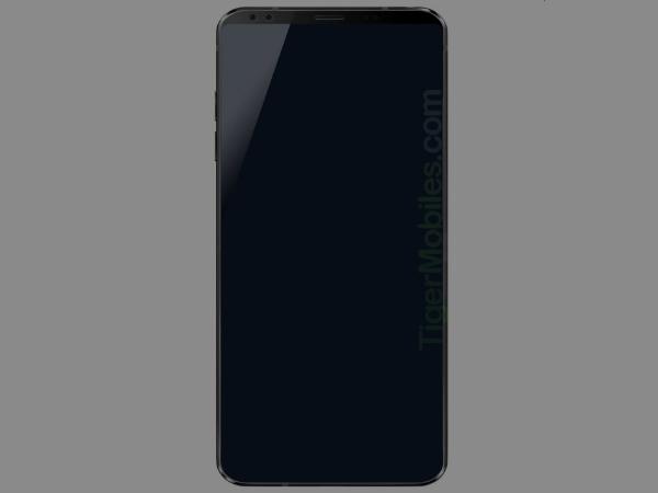 Alleged LG G7 render emerges online; dual selfie cameras likely