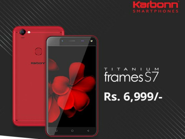 Karbonn Titanium Frames S7 with Airtel cashback offer launched