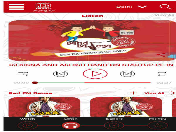 Red FM 93.5 unveils its own mobile Application