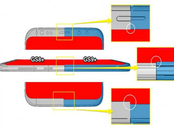 Samsung Galaxy S9+ CAD schematics show minor design changes