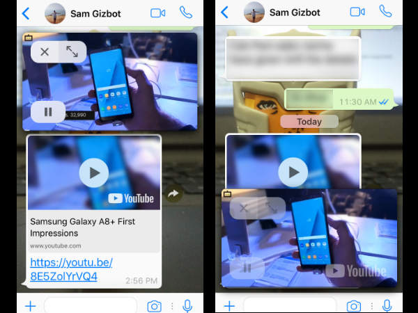 WhatsApp iOS version gets YouTube integration and picture-in-picture
