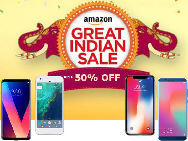 Amazon Great Indian Festival offers upto 50% off on iPhone X, Nokia 8, Xperia XZs and more