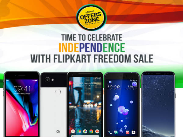 Flipkart Republic Day Discount and Offers on High-End phones: Mi MIX 2, Pixel 2, iPhone 8 Plus