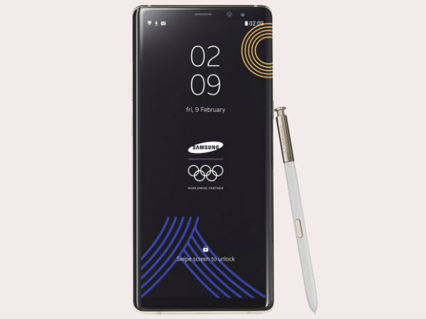 Special Olympic Winter Games Samsung Galaxy Note 8 Unveiled