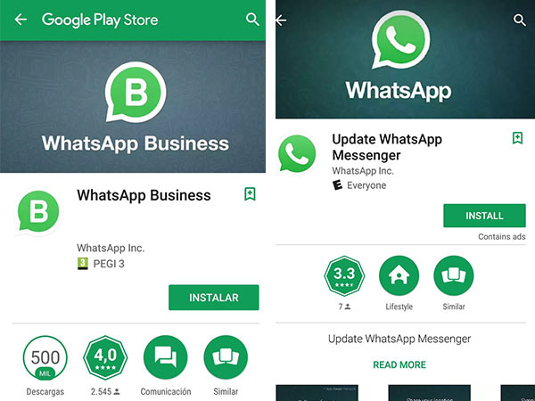 Difference between WhatsApp Business and standard WhatsApp