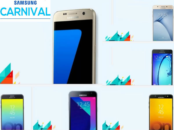 Flipkart and Amazon Samsung carnival discount offers