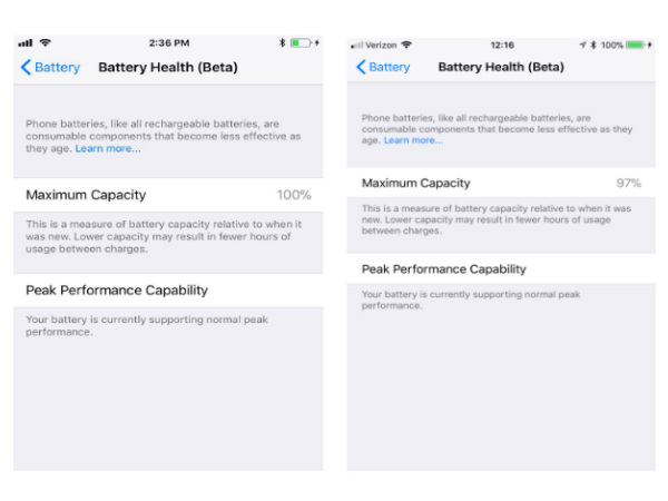 Here's how you will be able to check your iPhone's battery health