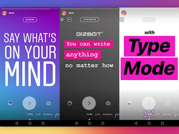 Instagram Type Mode lets you post text-only Stories