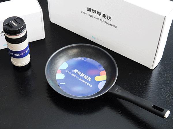Meizu sends frying pans and DSLR-lens mug as Meizu E3 invites
