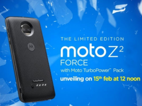 Moto Z2 Force India launch pegged for February 15