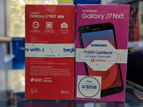 best service 943cf 5de46 Samsung Galaxy J7 Nxt gets a price cut, available from Rs. 9,990 ...