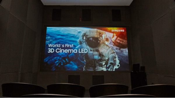 Samsung unveils world's first 3D Cinema LED screen