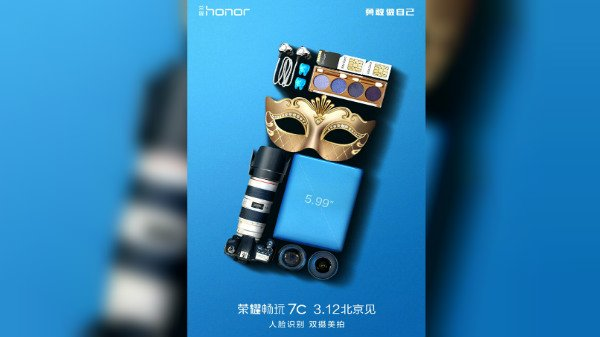 Honor Play 7C teaser highlights dual cameras and facial recognition
