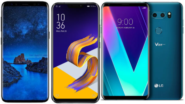 Premium smartphones unveiled at the MWC 2018
