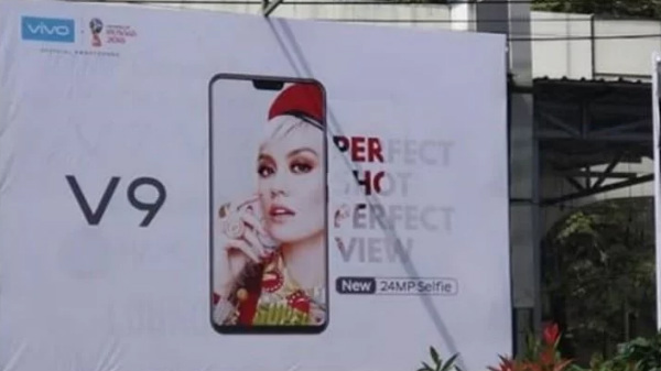 Vivo V9 leaked with a full screen-display and iPhone X like design