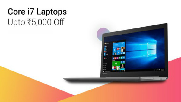 Upto Rs 5,000 off on Best Core i7 Laptops to buy in India