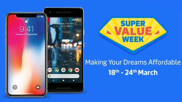 Flipkart's super value week offers on Xiaomi Mi MIX, iPhone X, Google Pixle 2 Xl, HTC U11+ and more