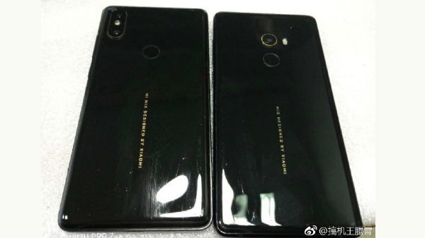Xiaomi Mi Mix 2S leaked photo reveals vertical dual rear cameras