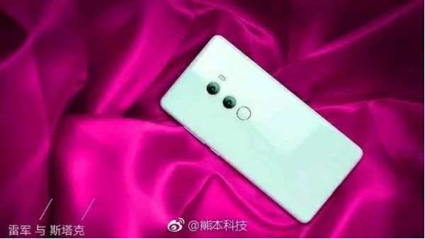 Xiaomi Mi Mix 2S promo images show a near bezel-less display