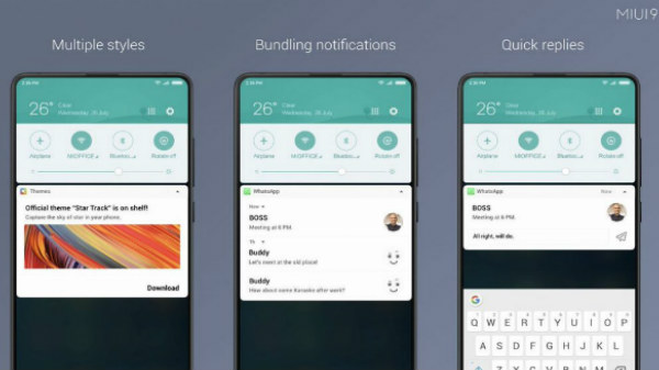 Xiaomi MIUI 9.5 update brings New Notification Shade feature