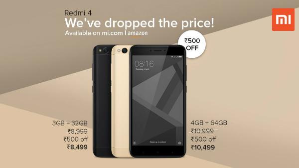Xiaomi Redmi 4 price cut by Rs. 500
