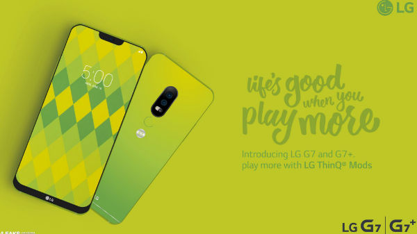 LG G7 will look like a Green colored iPhone X; poster reveals