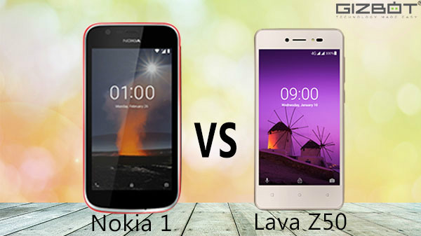 Nokia 1 vs Lava Z50: Android Go smartphones get into a fight