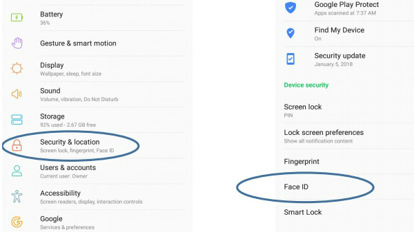 How to enable the Face Unlock feature on Infinix Hot S3 smartphone