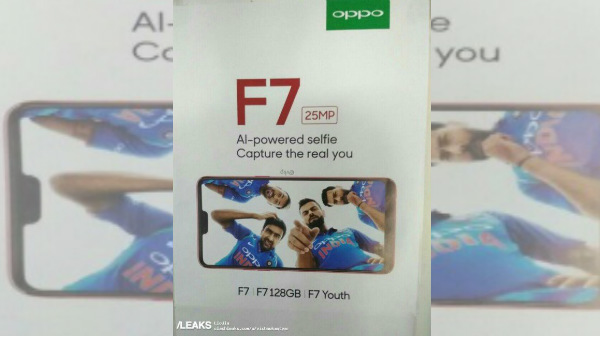 Oppo F7 to arrive in two variants, hints poster