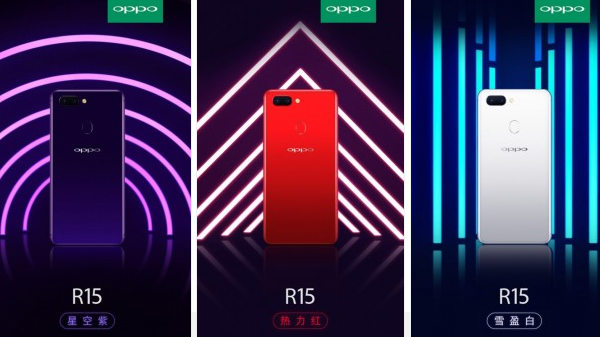 Oppo R15 official press renders and video released