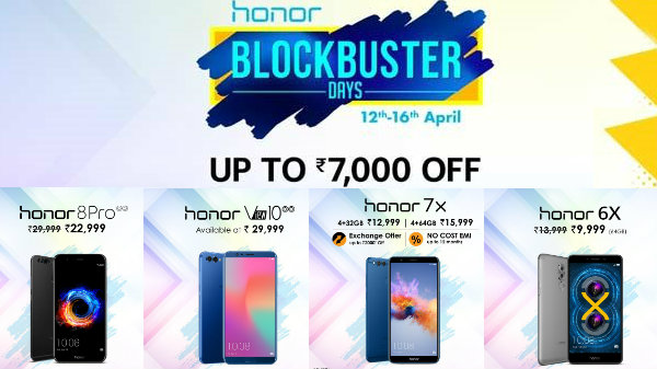 Honor 7X, V10, 8PRO, 6X and more now being sold with offers via Amazon