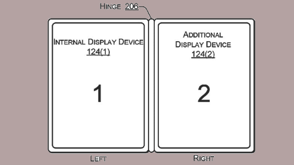 Dell patents a new design with two screens