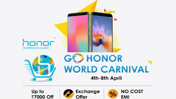 Go Honor World Carnival offers Up to Rs 7,000 off, Exchange offer